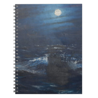 The Tell tale Moon Spiral Notebook