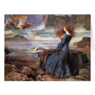 The Tempest 1916 Large Greeting Card
