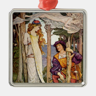 The Tempest Square Metal Christmas Ornament