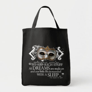 The Tempest Quote Canvas Bags