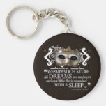 The Tempest Quote Basic Round Button Keychain