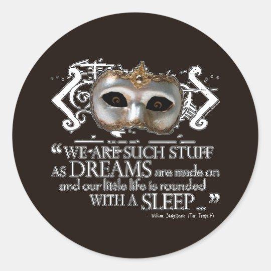 The Tempest Quote Classic Round Sticker