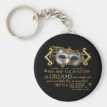 The Tempest Quote (Gold Version) Keychains