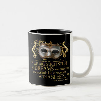 The Tempest Quote (Gold Version) Two-Tone Coffee Mug