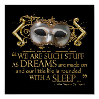 The Tempest Quote (Gold Version) Print
