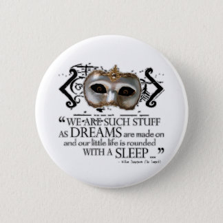 The Tempest Quote Pinback Button