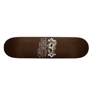 The Tempest Quote Skateboard Deck