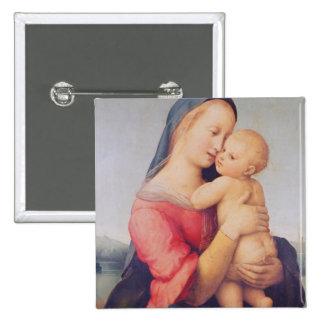 The 'Tempi' Madonna, 1508 2 Inch Square Button