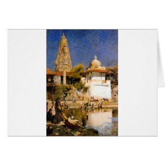 The Temple and Tank of Walkeschwar at Bombay Card