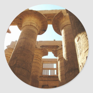 The Temple Complex of Karnak in Thebes, Egypt Classic Round Sticker