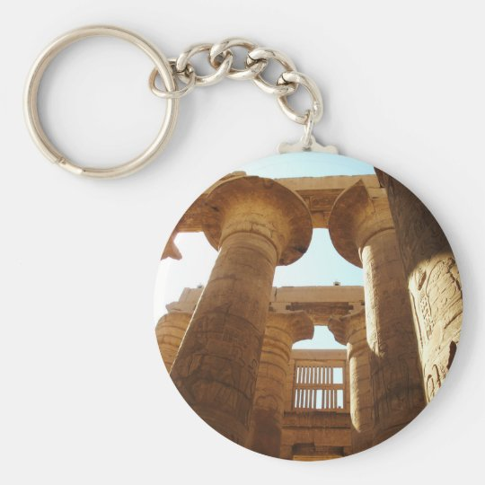 The Temple Complex of Karnak in Thebes, Egypt Keychain