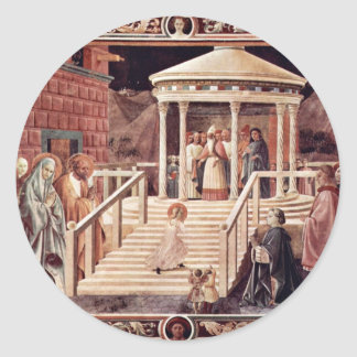 The Temple, Mary By Uccello Paolo (Best Quality) Classic Round Sticker