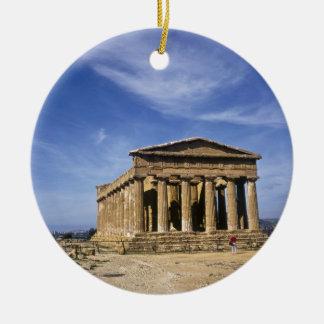 The Temple of Concordia in  Agrigento,Italy Ceramic Ornament