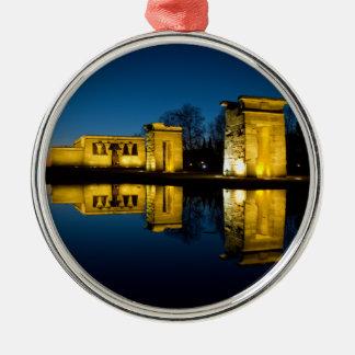 The Temple of Debod in Madrid Spain Metal Ornament