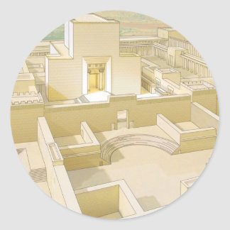 The Temple of Jerusalem Round Stickers