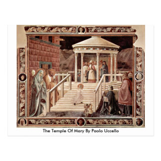 The Temple Of Mary By Paolo Uccello Postcard
