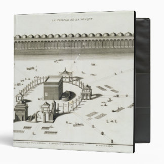 The Temple of Mecca (engraving) 3 Ring Binder