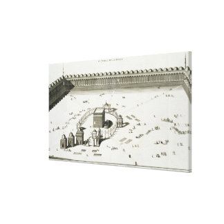 The Temple of Mecca (engraving) Stretched Canvas Prints