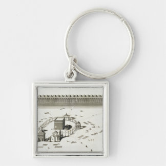 The Temple of Mecca (engraving) Keychain