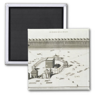 The Temple of Mecca (engraving) Magnet