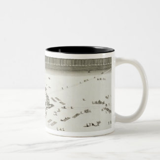 The Temple of Mecca (engraving) Two-Tone Coffee Mug