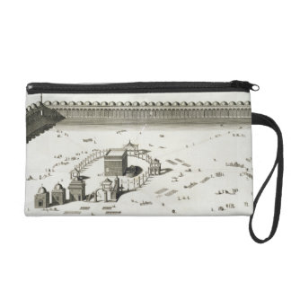 The Temple of Mecca (engraving) Wristlet Purse
