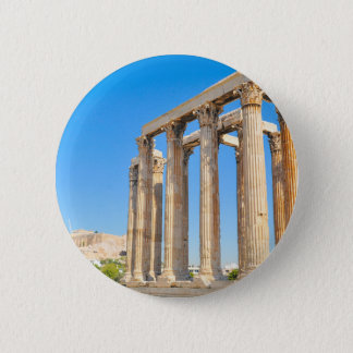 The Temple of Olympian Zeus in Athens, Greece Pinback Button