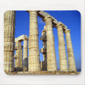 The temple of Poseidon in Sounio Mousepad