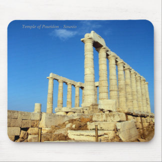 The temple of Poseidon in Sounio Mouse Pads