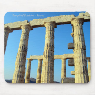 The temple of Poseidon in Sounio Mousepads