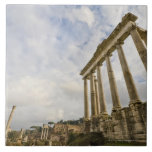 The temple of Saturn is the oldest in the Roman Ceramic Tile
