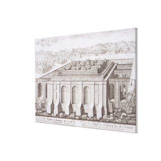 The Temple of Solomon Jerusalem from Entwurf ei Canvas Print