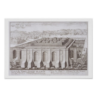 The Temple of Solomon, Jerusalem, from 'Entwurf ei Poster