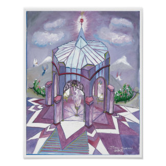 The temple of the purple flame poster