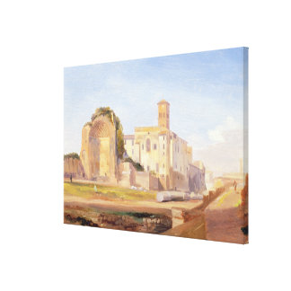 The Temple of Venus and Rome, Rome, 1840 (oil on p Gallery Wrapped Canvas
