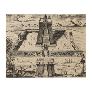 The Templo Mayor at Tenochtitlan 2 Wood Prints