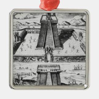 The Templo Mayor at Tenochtitlan Metal Ornament