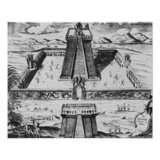 The Templo Mayor at Tenochtitlan Poster