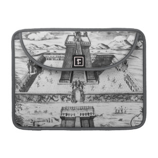 The Templo Mayor at Tenochtitlan Sleeve For MacBooks