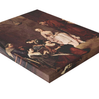 The Temptation by Pietro Longhi Canvas Print