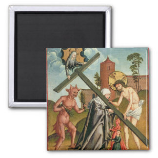 The Temptation of a Saint 2 Inch Square Magnet
