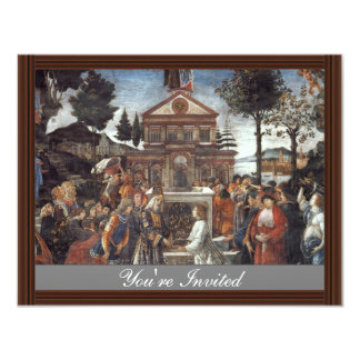 The Temptation Of Christ By Botticelli Sandro 4.25x5.5 Paper Invitation Card