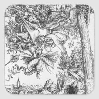 The Temptation of St.Anthony, 1506 Square Sticker
