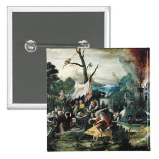 The Temptation of St. Anthony 2 2 Inch Square Button