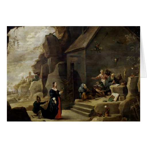 The Temptation of St. Anthony 2 Greeting Card