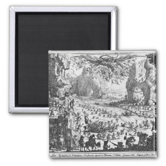 The Temptation of St. Anthony 2 Inch Square Magnet