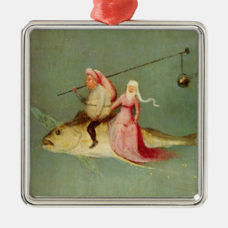 The Temptation of St. Anthony 2 Square Metal Christmas Ornament