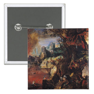 The Temptation of St. Anthony 3 2 Inch Square Button