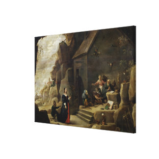 The Temptation of St. Anthony 3 Canvas Print