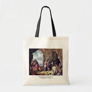 The Temptation Of St. Anthony Canvas Bags
